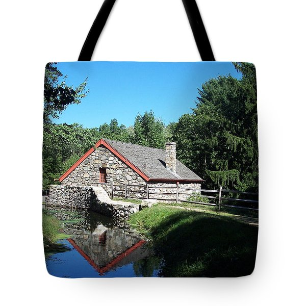 The Old Grist Mill Tote Bag by Georgia Hamlin