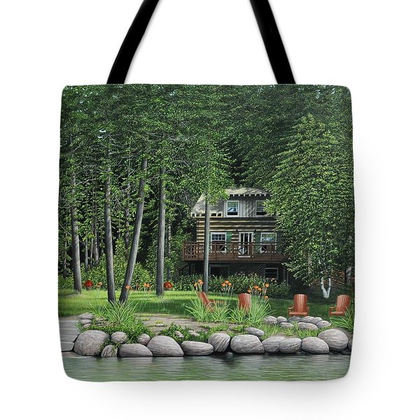 The Old Lawg Caybun On Lake Joe Tote Bag by Kenneth M  Kirsch