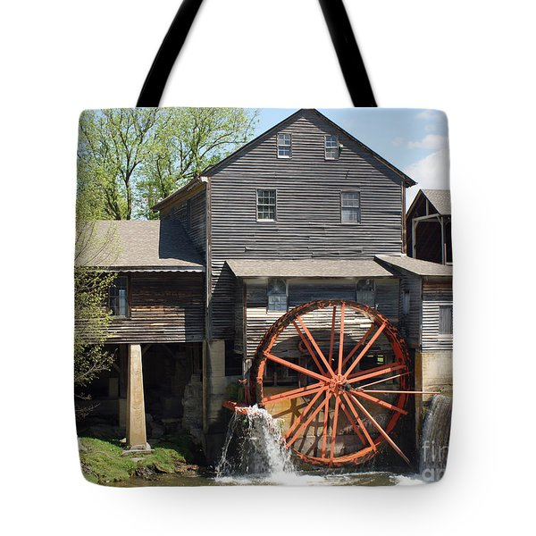 The Old Mill in Pigeon Forge Tote Bag by Roger Potts