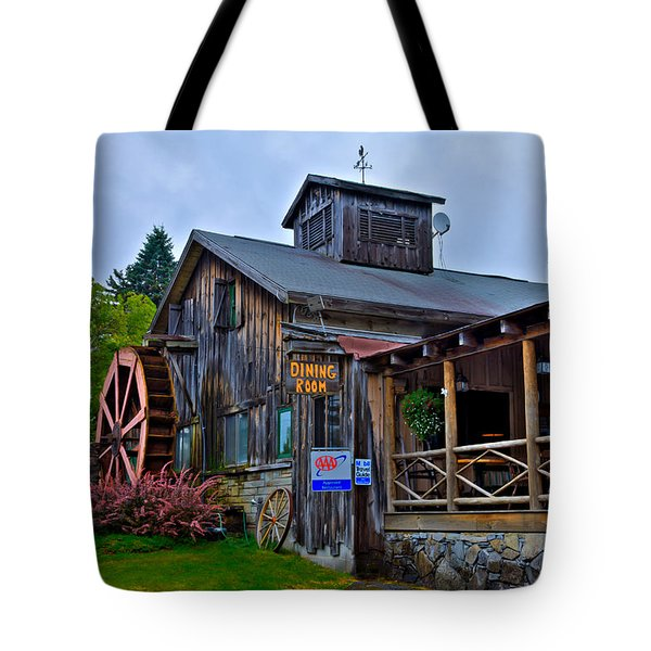 The Old Mill Restaurant - Old Forge New York Tote Bag by David Patterson