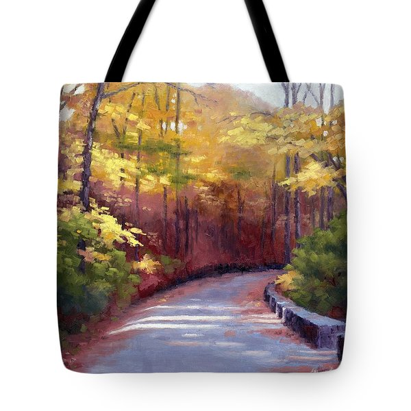 The Old Roadway In Autumn II Tote Bag by Janet King