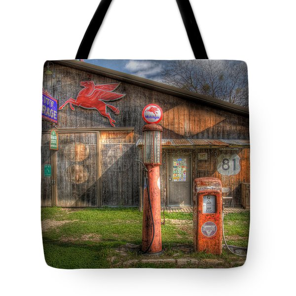 The Old Service Station Tote Bag by David and Carol Kelly