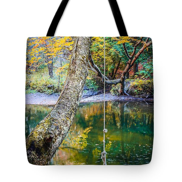 The Old Swimming Hole Tote Bag by Edward Fielding