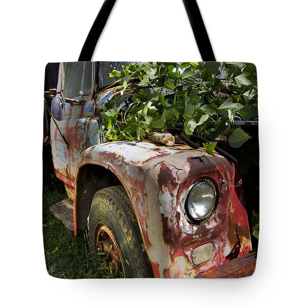 The Old Truck Tote Bag by Debra and Dave Vanderlaan