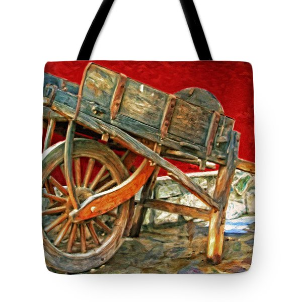 The Old Wheelbarrow Tote Bag by Michael Pickett