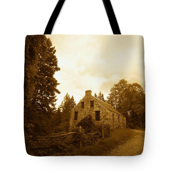 The Olde Stone Cottage Tote Bag by Ron Haist