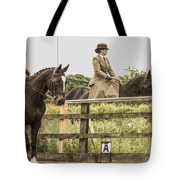 The other side of the saddle Tote Bag by Linsey Williams