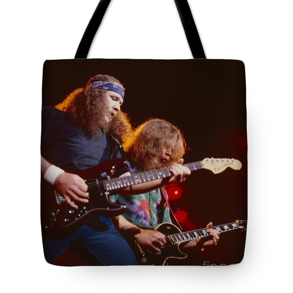 The Outlaws - Hughie Thomasson And Billy Jones Tote Bag by Daniel Larsen