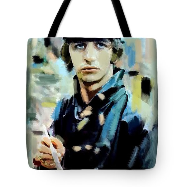 The Painted Heart  Ringo Starr Tote Bag by Iconic Images Art Gallery David Pucciarelli