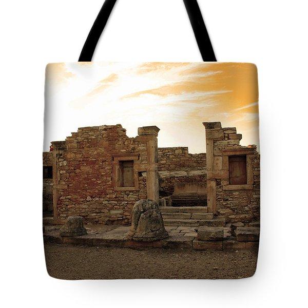 The Palaestra -kourion-apollo Tote Bag by Augusta Stylianou