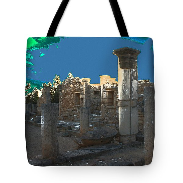 The Palaestra -temple Of Apollo Tote Bag by Augusta Stylianou