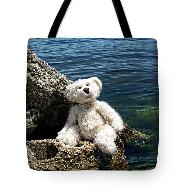The Philosopher - Teddy Bear Art By William Patrick and Sharon Cummings Tote Bag by Sharon Cummings