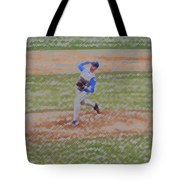 The Pitcher Digital Art Tote Bag by Thomas Woolworth