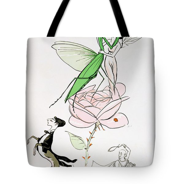 The Poets Corner Tote Bag by Sem