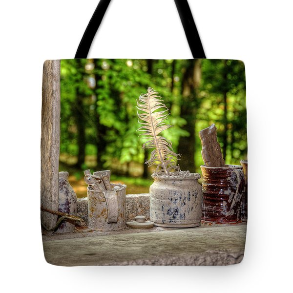 The Potter's Window Tote Bag by Donna Doherty