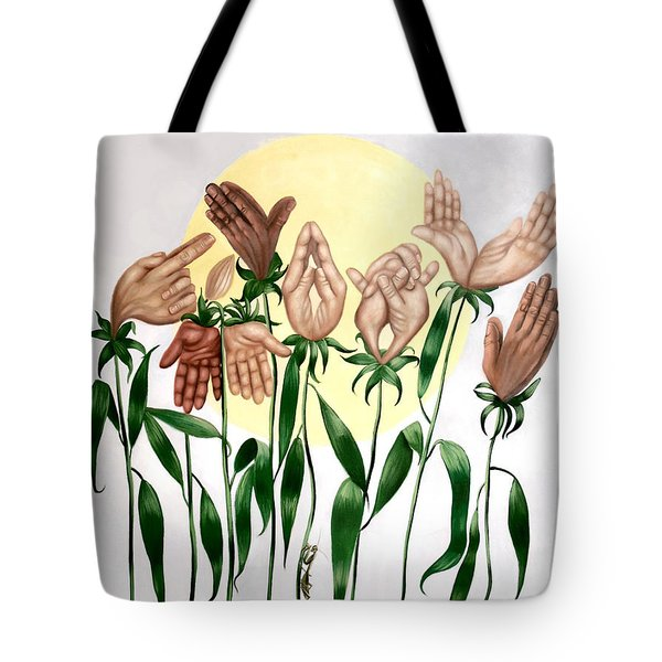 The Prayer Garden Tote Bag by Anthony Falbo
