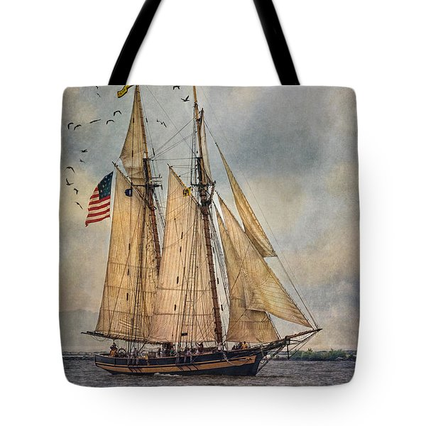 The Pride Of Baltimore II Tote Bag by Dale Kincaid
