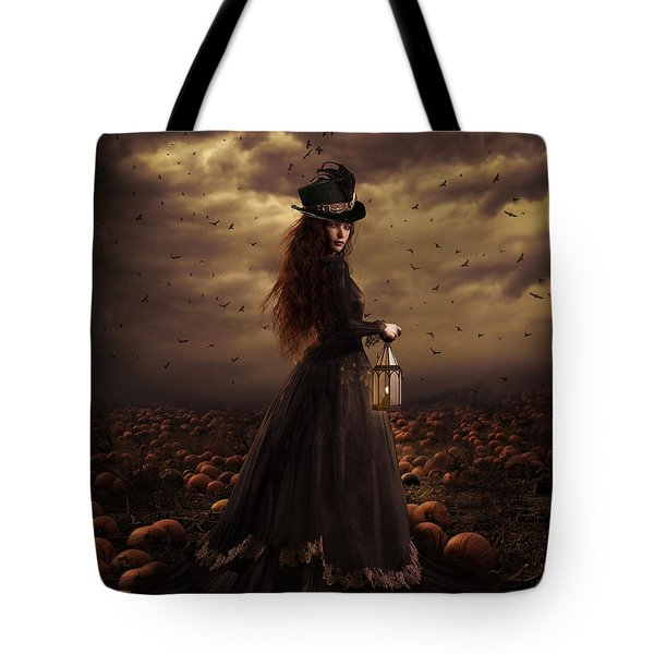 The Pumpkin Patch Tote Bag by Shanina Conway