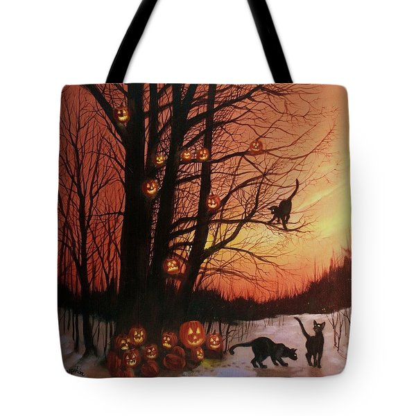 The Pumpkin Tree Tote Bag by Tom Shropshire