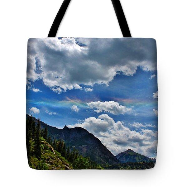 The Rare Phenomena Rainbows Tote Bag by Janice Rae Pariza