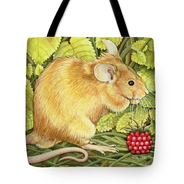 The Raspberry Mouse Tote Bag by Ditz
