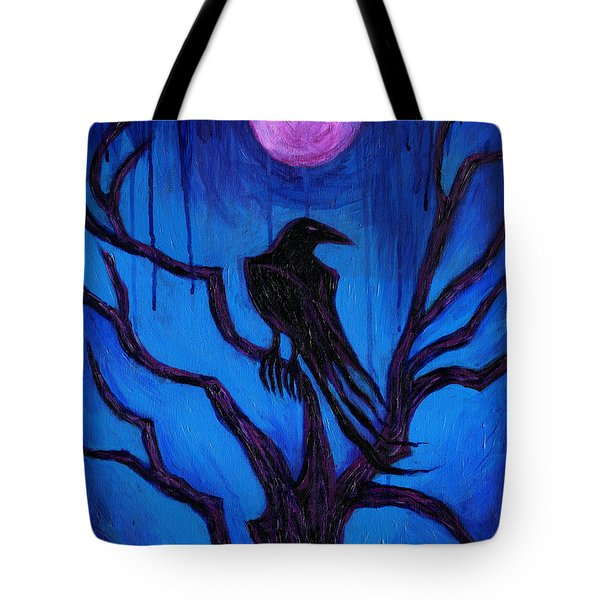 The Raven Nevermore Tote Bag by Roz Abellera Art