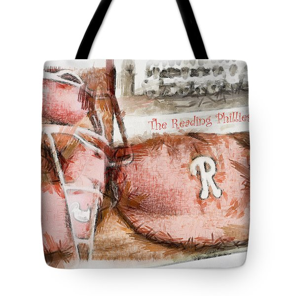 The Reading Phillies Tote Bag by Trish Tritz