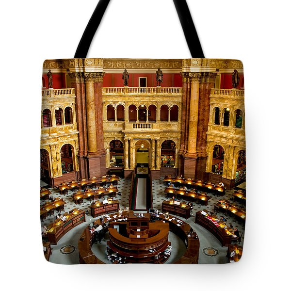 The Reading Room Tote Bag by Greg Fortier