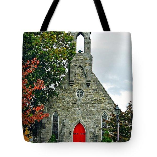 The Red Door Tote Bag by Steve Harrington