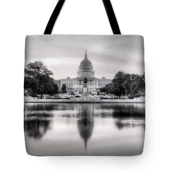 The Republic Awakens Bw Tote Bag by JC Findley