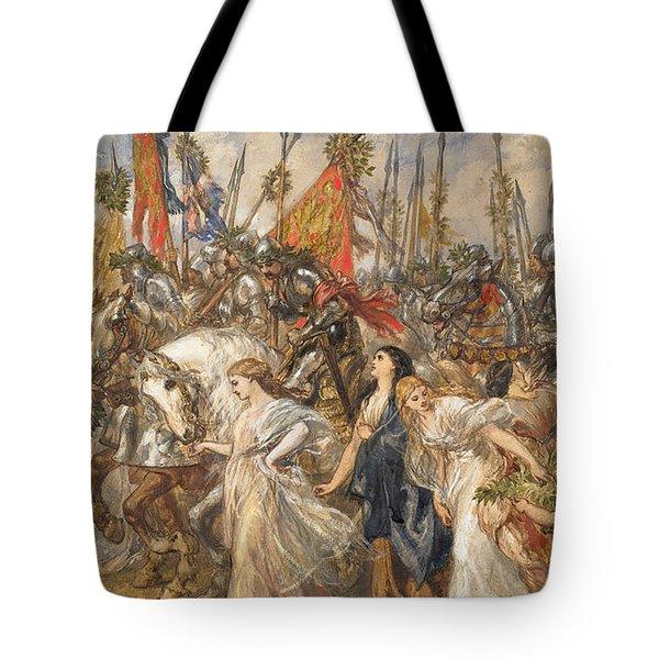 The Return Of The Victors Tote Bag by Sir John Gilbert