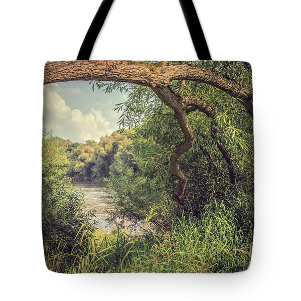 The River Severn At Buildwas Tote Bag by Amanda And Christopher Elwell