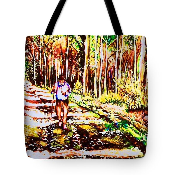 The Road Not Taken Tote Bag by Carole Spandau