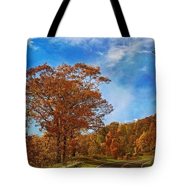 The Road To Autumn Tote Bag by Kim Hojnacki
