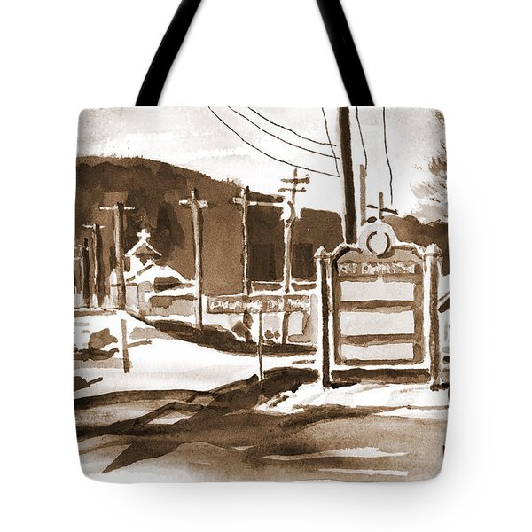 The Road To Farmington Pilot Knob Missouri Tote Bag by Kip DeVore