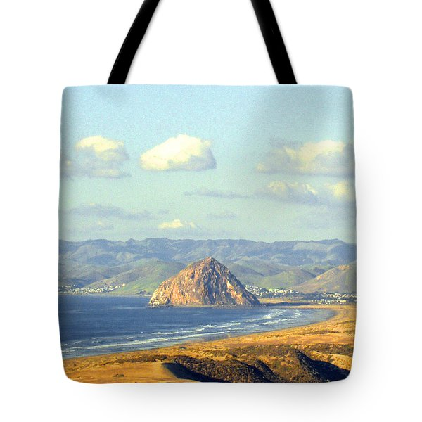 The Rock At Morro Bay Tote Bag by Barbara Snyder