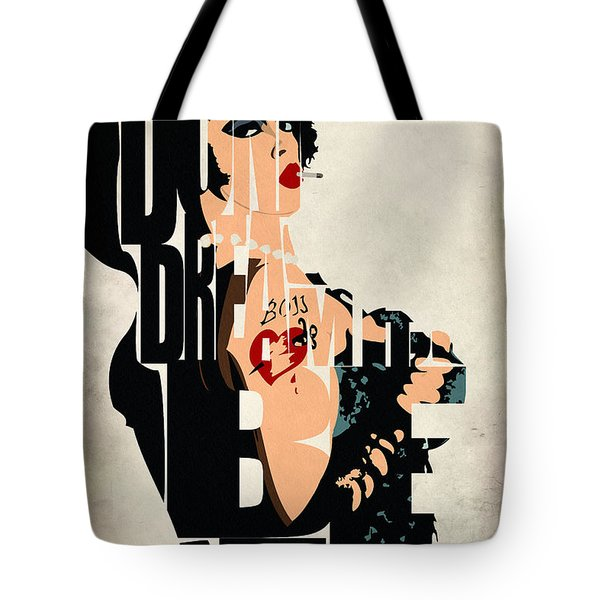 The Rocky Horror Picture Show - Dr. Frank-n-furter Tote Bag by Ayse Deniz
