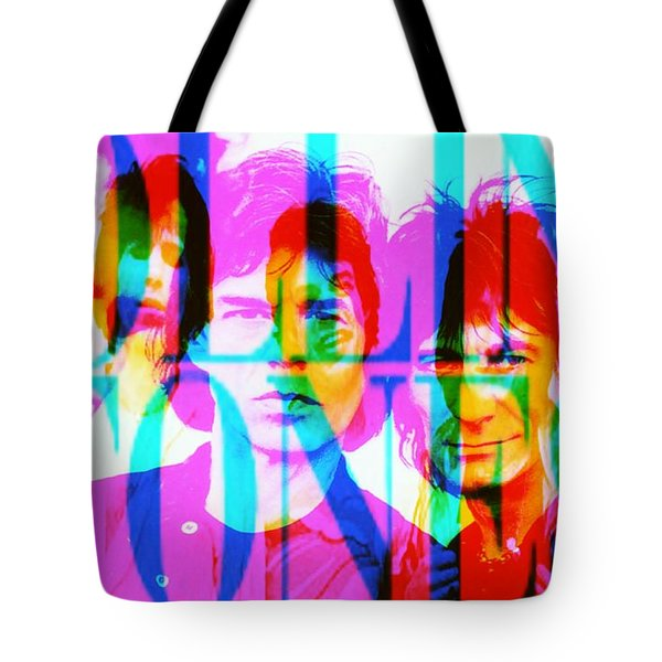 The Rolling Stones Tote Bag by Elizabeth McTaggart