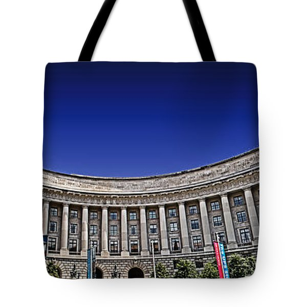 The Ronald Reagan Building And International Trade Center Tote Bag by Tom Gari Gallery-Three-Photography