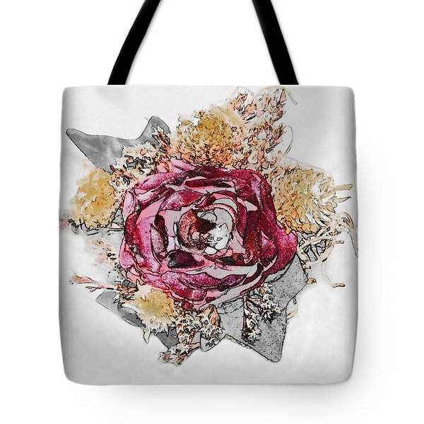 The Rose Tote Bag by Susan Leggett