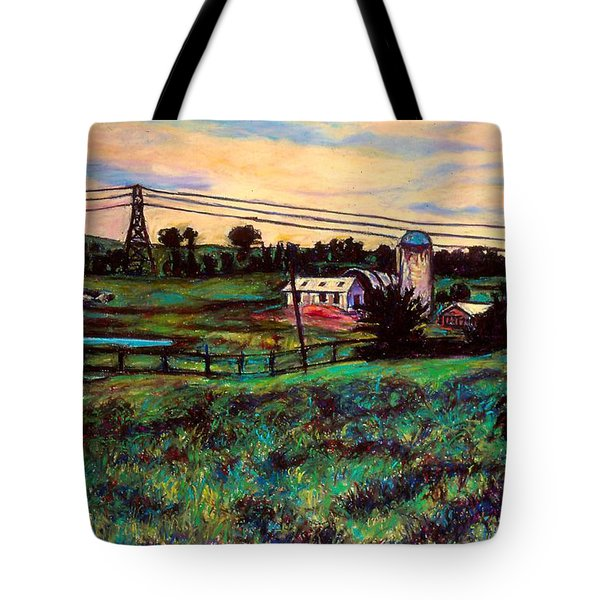 The Rusty Silo Tote Bag by Kendall Kessler