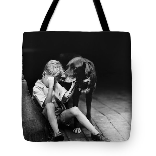 The sad boy circa 1921 Tote Bag by Aged Pixel