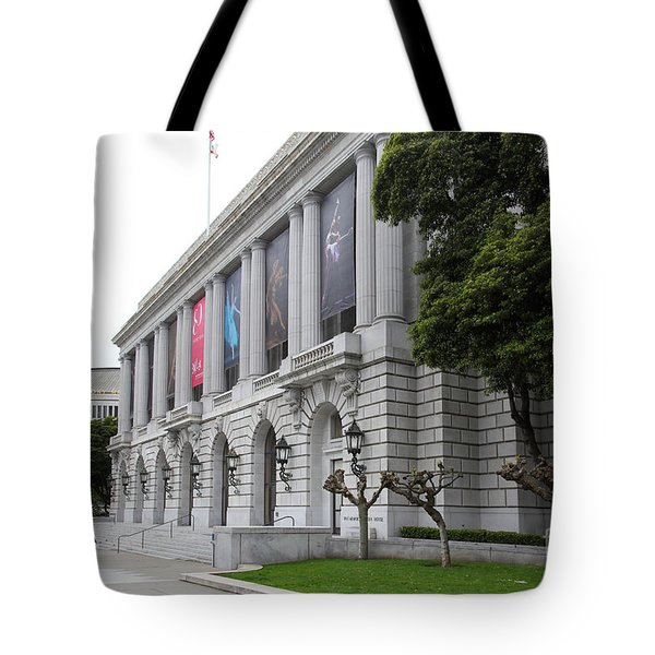 The San Francisco War Memorial Opera House - San Francisco Ballet 5d22485 Tote Bag by Wingsdomain Art and Photography