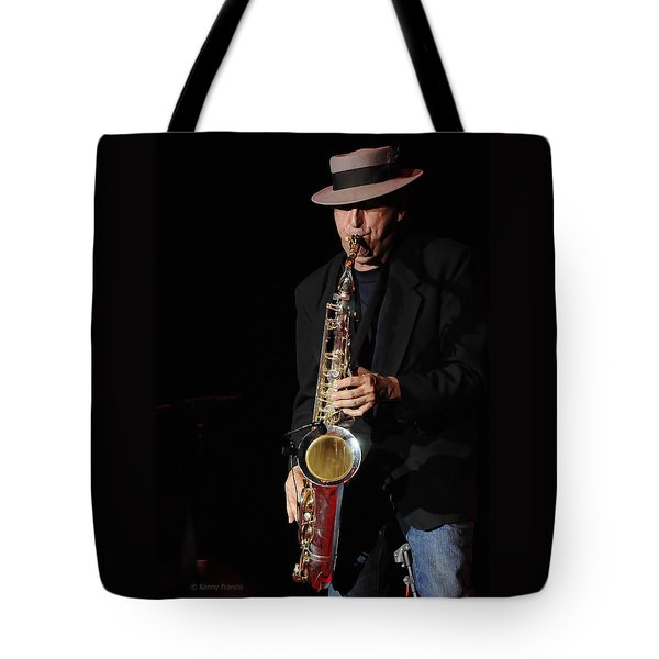 The Sax Man Tote Bag by Kenny Francis