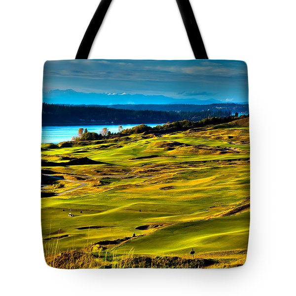 The Scenic Chambers Bay Golf Course - Location of the 2015 U.S. Open Tournament Tote Bag by David Patterson