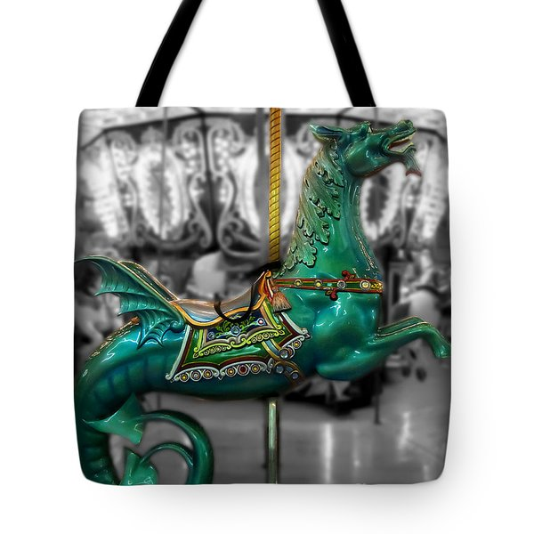 The Sea Dragon - Carousel Tote Bag by Colleen Kammerer