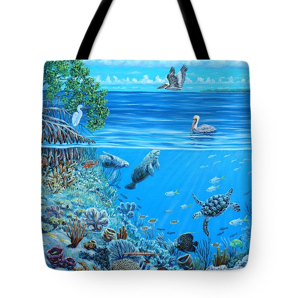 The Sea Is Calling Tote Bag by Danielle  Perry