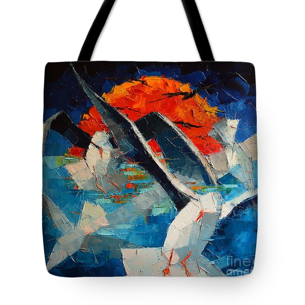 The Seagulls 2 Tote Bag by Mona Edulesco