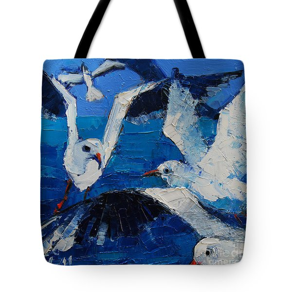 The Seagulls Tote Bag by Mona Edulesco