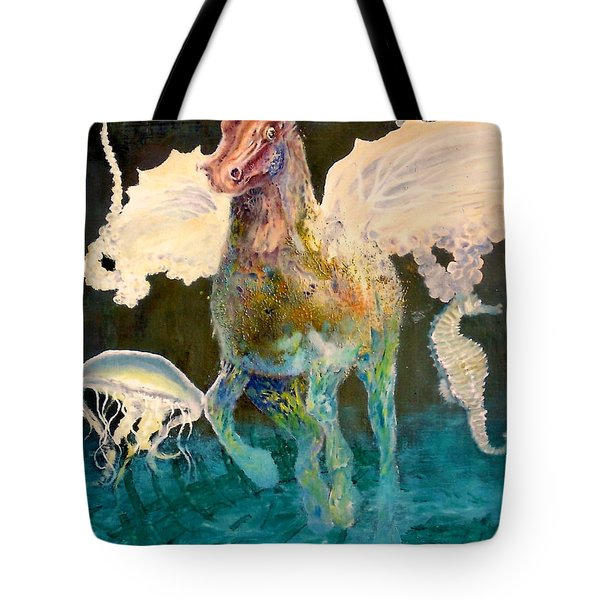 The Seahorse Tote Bag by Henryk Gorecki